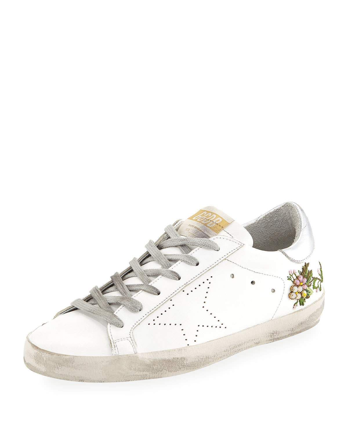 a2414934a08f5 Golden Goose Superstar Floral Leather Sneakers in 2019 | Mother's ...