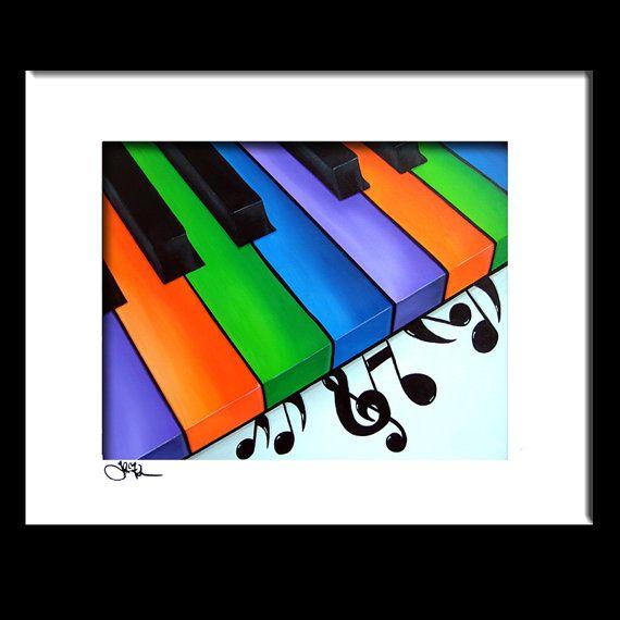 Music CONTEMPORARY POP ART Abstract MODERN print FIDOSTUDIO PIANO KEYS