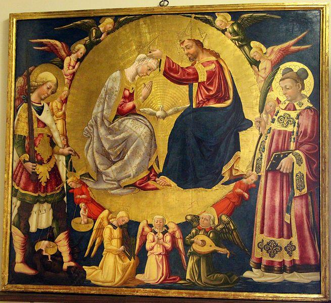Neri di Bicci Incoronazione della Vergine tra i Santi Stefano e Michele, Firenze, museo del Cenacolo di Sant'Apollonia