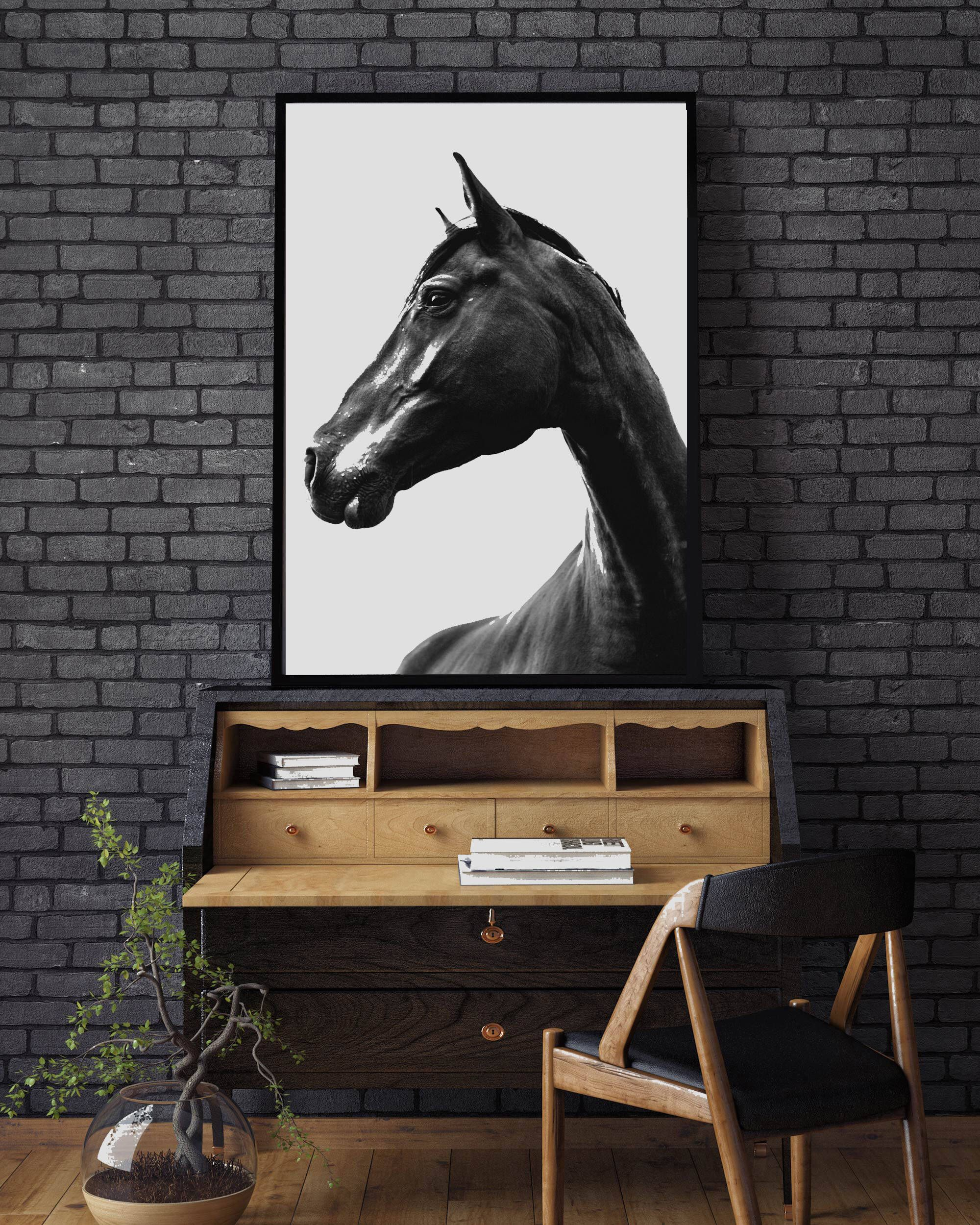 Horse Print Scandinavian Print Nordic Poster Minimalist Print