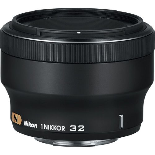 Nikon 1 Nikkor 32mm F 1 2 Lens Black Mirrorless Camera Nikon Slr Lenses