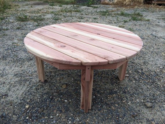 California Redwood 36 Round Adirondack Coffee Table By Knottheadcustomfab,  $125.00
