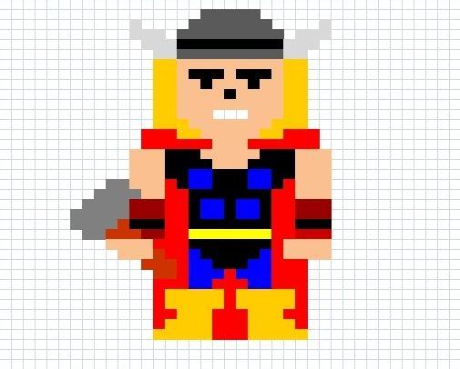 pixel art thor