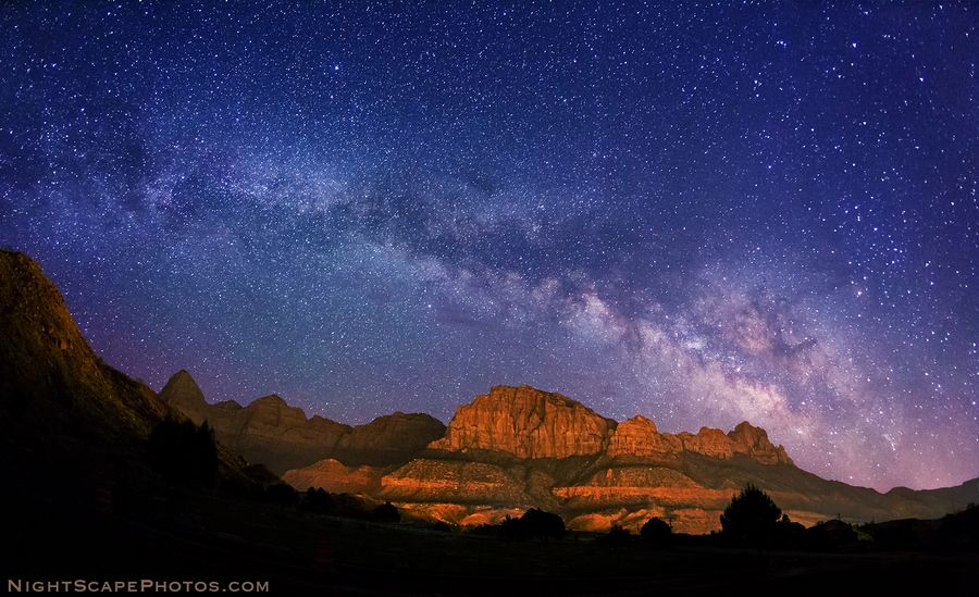 """""""Milky Way over Zions"""" by Royce's NightScapes, via 500px."""