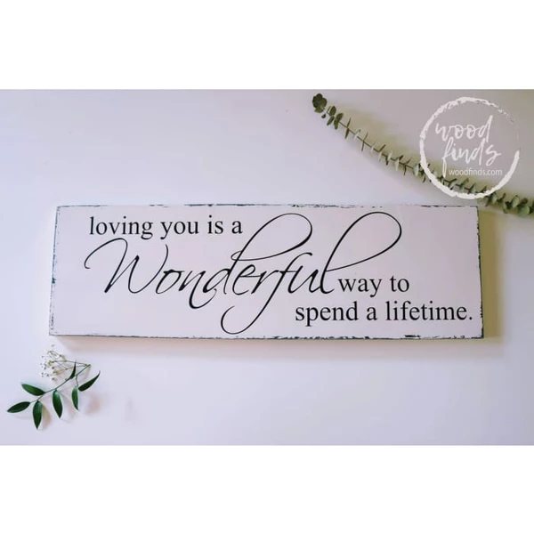 What To Spend On A Wedding Gift: Loving You Wall Decor Is A Wonderful Way To Spend A