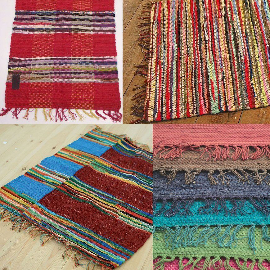 These Beautiful Fair Trade Rag Rugs Are Handmade In India Using Recycled Cotton Rags And Great For Brightening Up Any Room