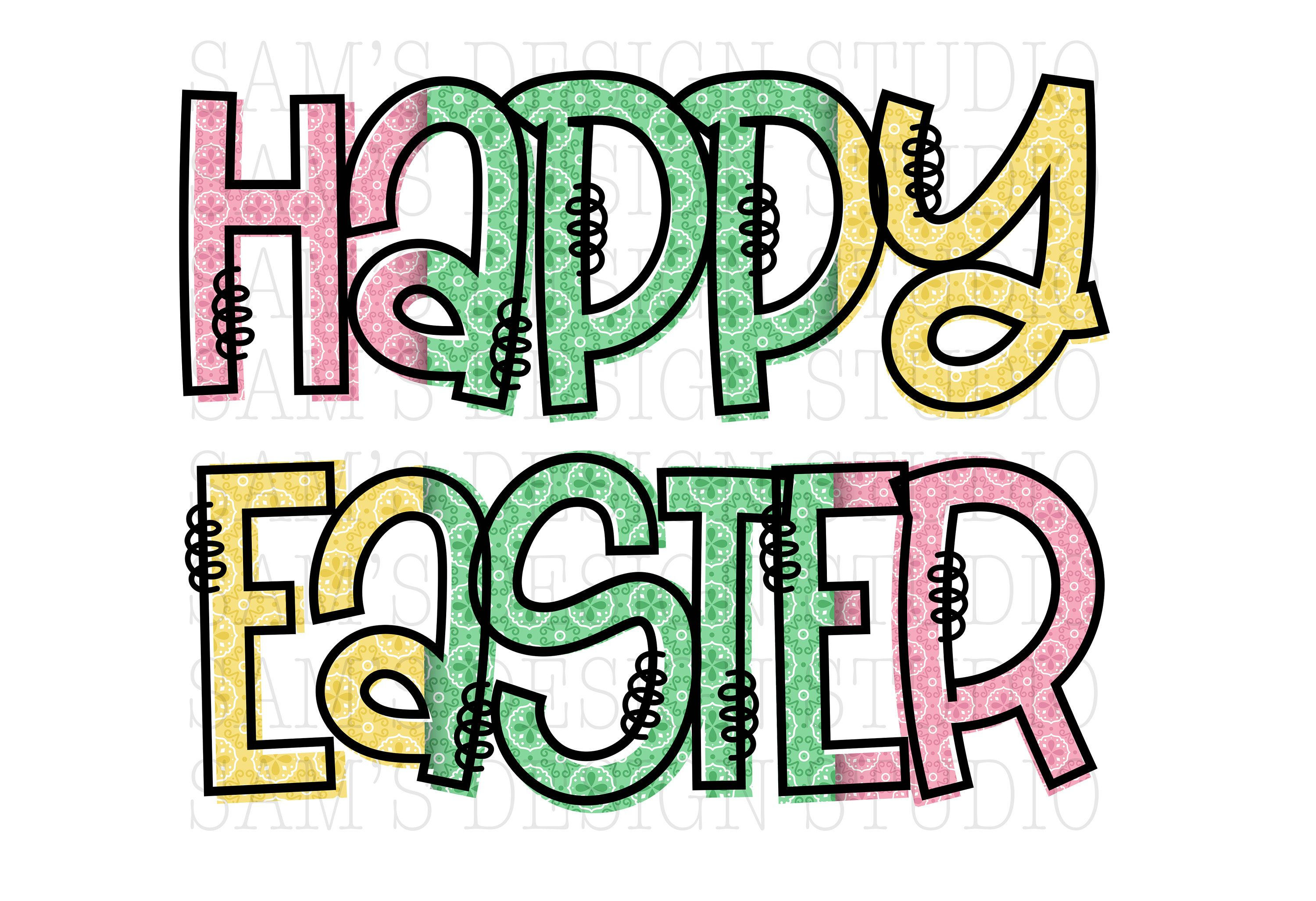 Happy Easter Png Easter Sublimation Designs Downloads Easter Etsy Sublime Happy Easter Happy