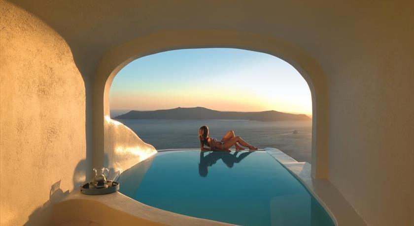 A Private Pool At The Katikies Sunrocks Hotel In Santorini