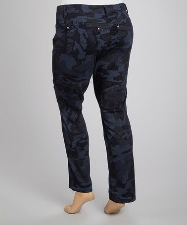 Take a look at this Cadet Camo Skinny Jeans - Plus by Royal Premium on #zulily today!