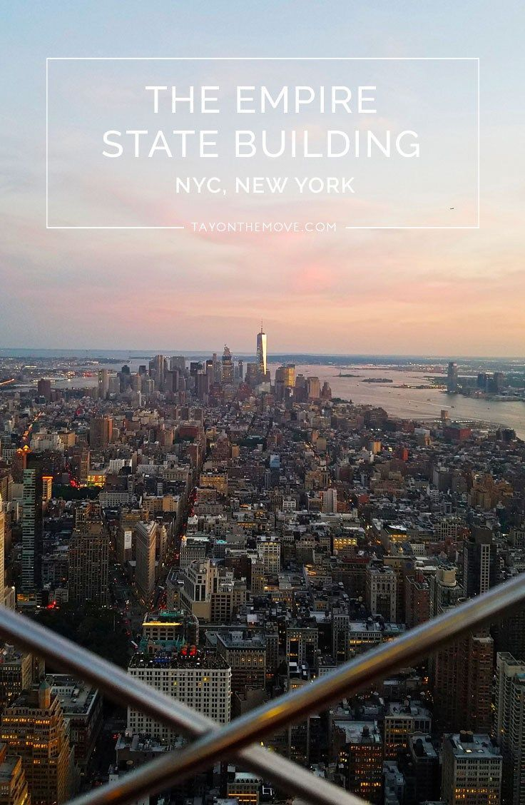 Empire State Building, NYC - One of the best places to see beautiful views of New York City!