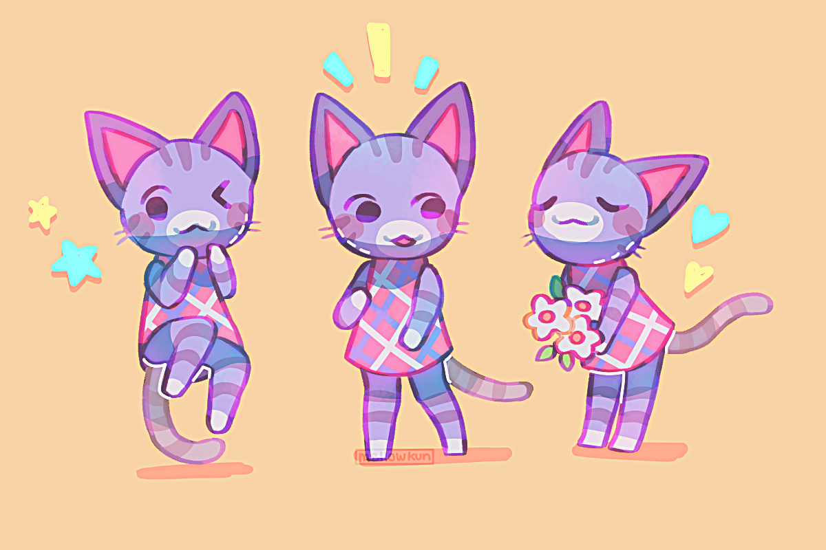 Lolly By Mellowkun Animal Crossing New Horizons Animal Crossing Cats Animal Crossing Fan Art Animal Crossing Villagers