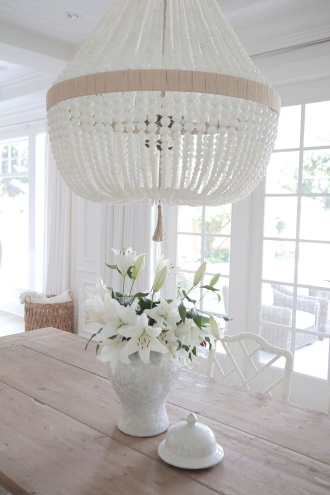 Dining Room Inspiration Chandelier Ro Sham Beaux Orbit White Milk Beads