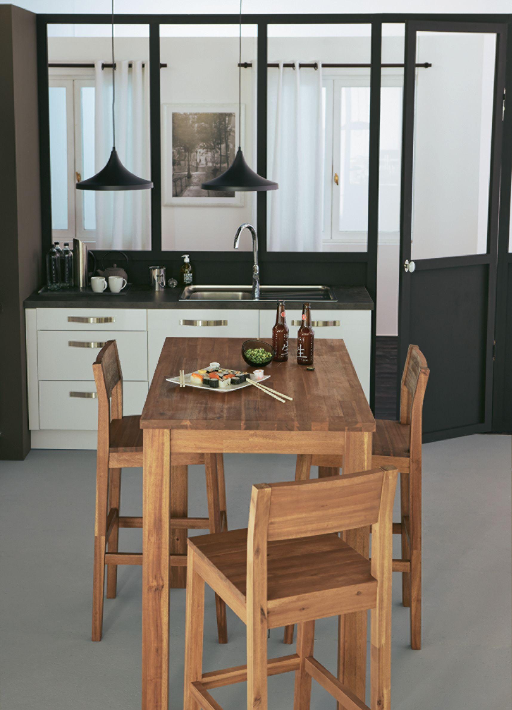 Amber Table Haute De Bar Rectangulaire En Acacia Decoration