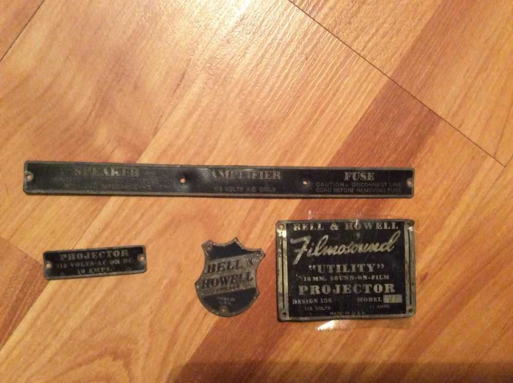 tin plates from WWII-era Bell & HOWELL FILMOSOUND UTILITY 16mm Film