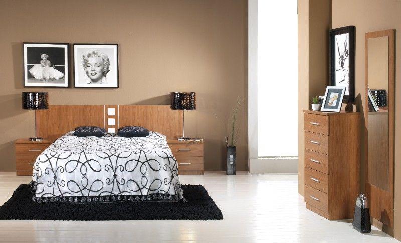 Pintura paredes para muebles color cerezo buscar con - De que color pintar una habitacion ...