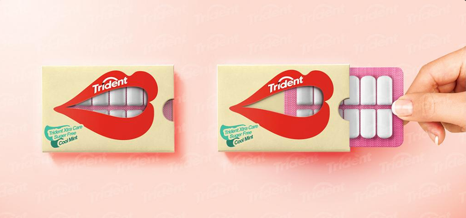 Trident Xtra Care packaging, genial