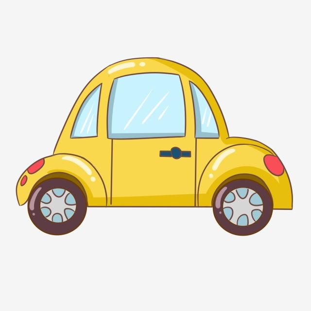 Yellow Car Beautiful Car Hand Drawn Car Cartoon Car Png And Psd Projetos De Arte Infantil Desenhos De Penteados Caminhao Infantil