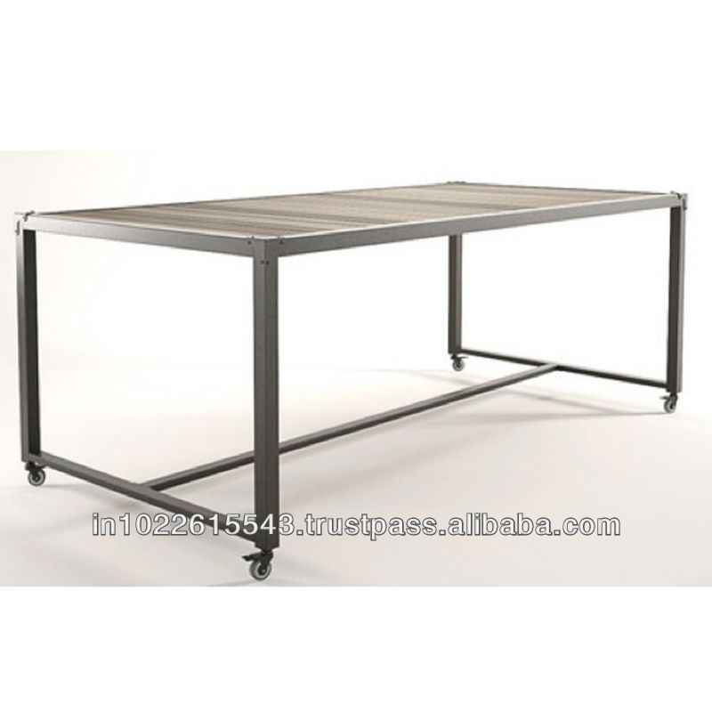 Industrial Dining Table Metal Dining Table Dining Table With Wheels Industrial Dining Table Dining Table Dining Table Rustic