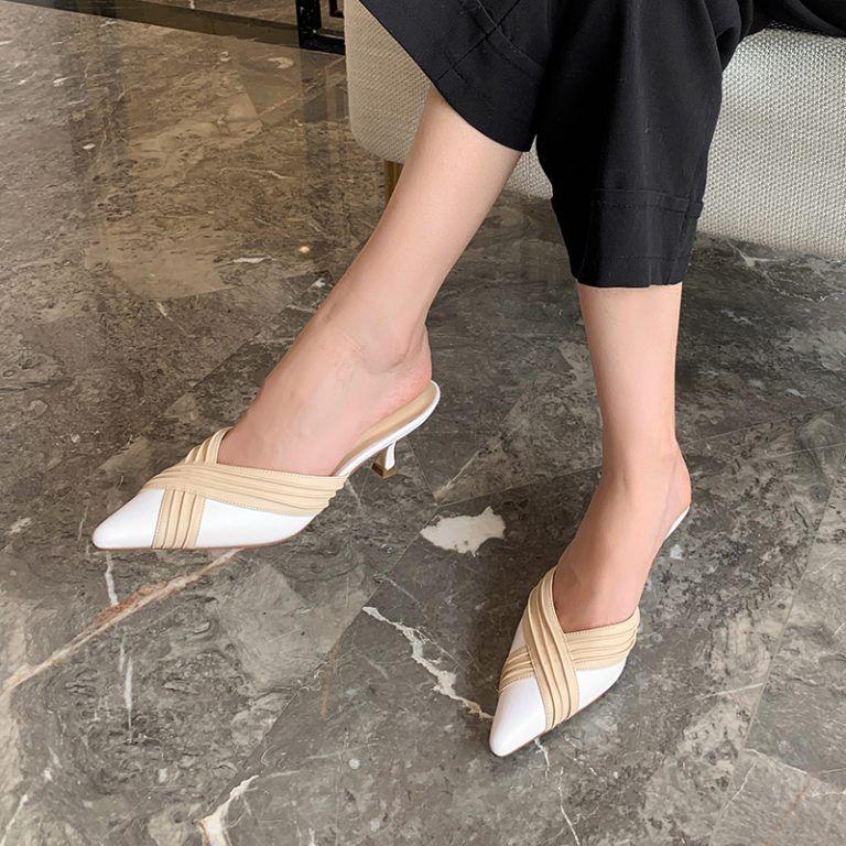 Chiko Roya Pointed Toe Block Heels Clogs Mules Clog Heels