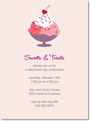 Ice Cream Invitation Ashau0027s First Birthday Pinterest Ice - valentines day invitations