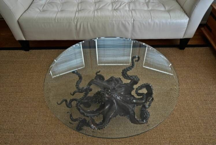gorgeous octopus sculpture coffee table | home decorating ideas