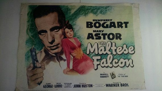 Vintage Movie Poster Maltese Falcon Humphrey By Tazamarazvintage Movie Posters Vintage Movie Posters Mary Astor
