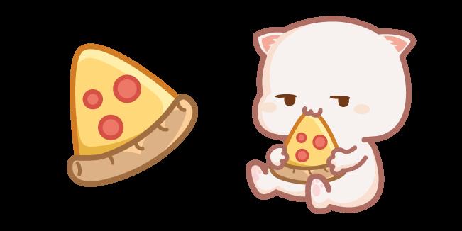 Cute Mochi Mochi Peach Cat And Pizza Cursor Custom Cursor In 2021 White Fluffy Kittens Fluffy Kittens Mochi
