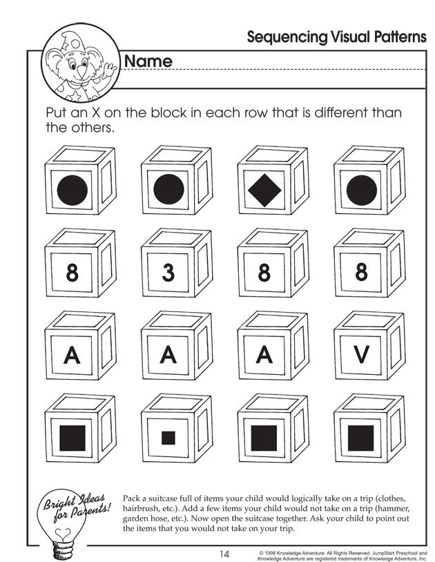 Great Filler Activity With Small Groups Sequencing Visual Patterns Sequencing Worksheets Critical Thinking Worksheets For Kids Critical Thinking Worksheets Sequencing worksheet for kids