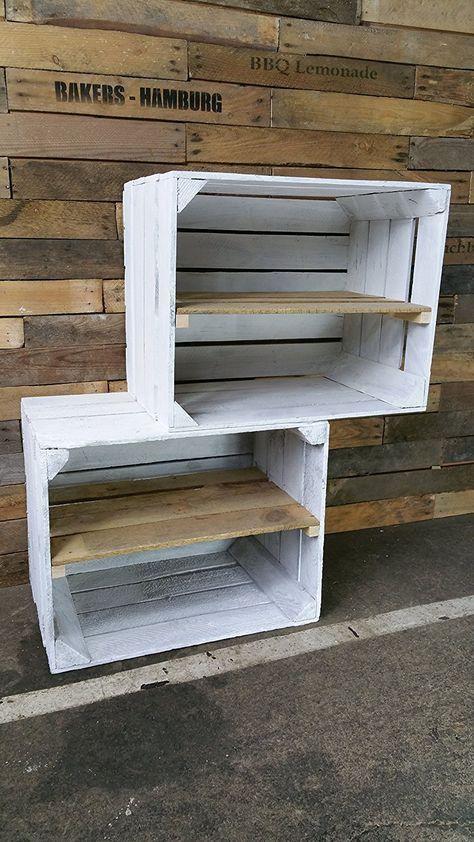 o trouver des caisses en bois et des cagettes scandinave pinterest etagere deco ou. Black Bedroom Furniture Sets. Home Design Ideas