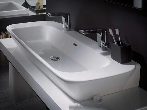 Badezimmer Reuter ~ Duravit vero doppelwaschtisch weiß mit wondergliss mit 2