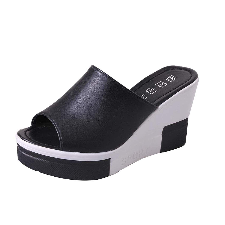 820b0d499d RAISINGTOP Women Dressy Comfortable Shoes Open Toe Roman Sandals Ladies  Flip Flops Arch Support Wedges >