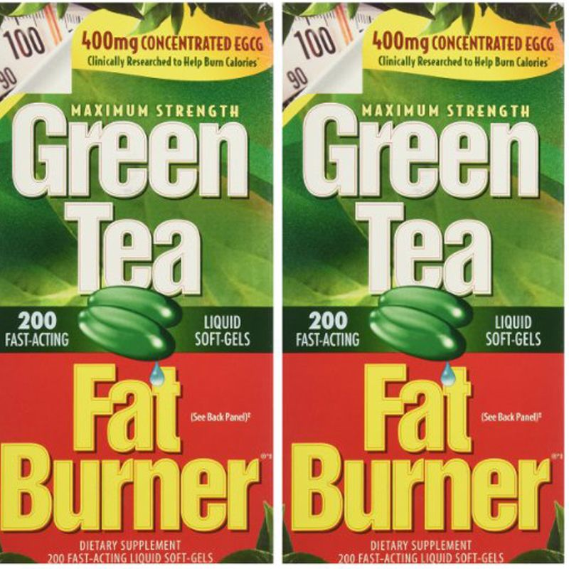 USA Green Tea Fat Burner Dietary Supplement 400 mg Fast-Acting Liquid Soft-Gels (Pack of 2) 400CT free shipping