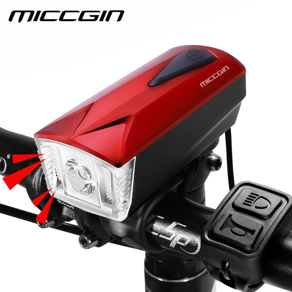 Electric Bicycle Light Scooter Lamp E-Bike 7 LED Front Headlight 18W With Horn