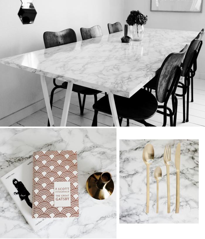 DIY MARBLE DINING ROOM TABLE Interior Inspiration Pinterest