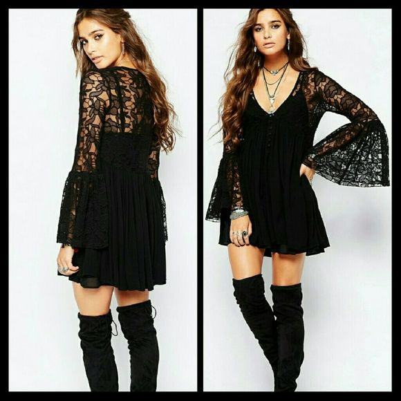 5d922dac50f New Free People Black lace Dress New with tags