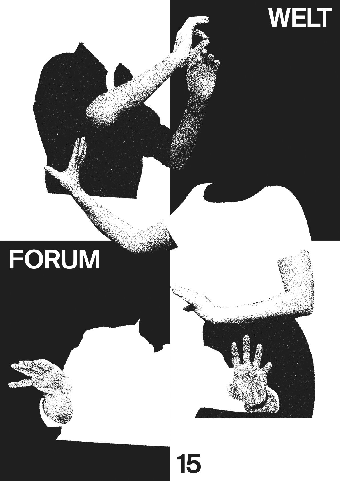 Poster design for symposium - Weltforum 15 Graphic Design Symposium Weltform At