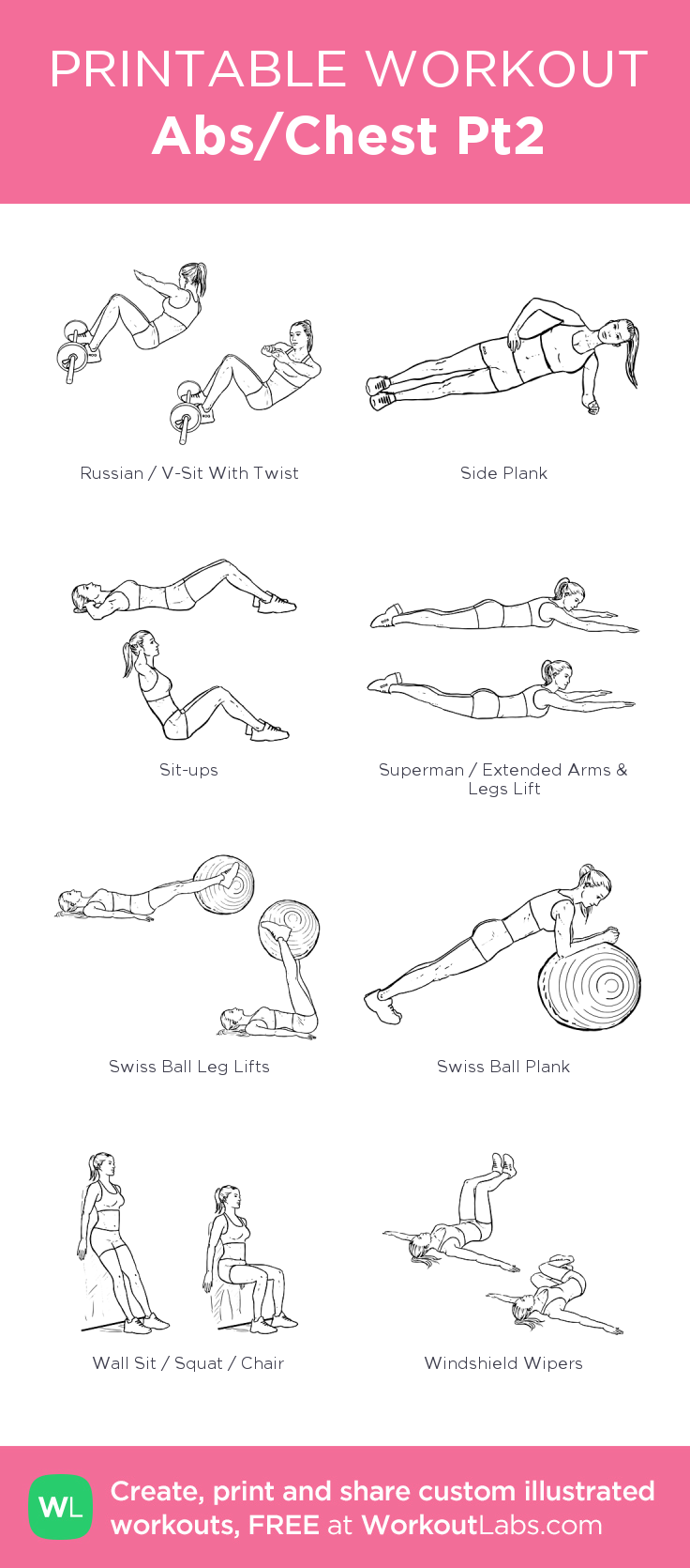 Abs/Chest Pt2 my visual workout created at WorkoutLabs