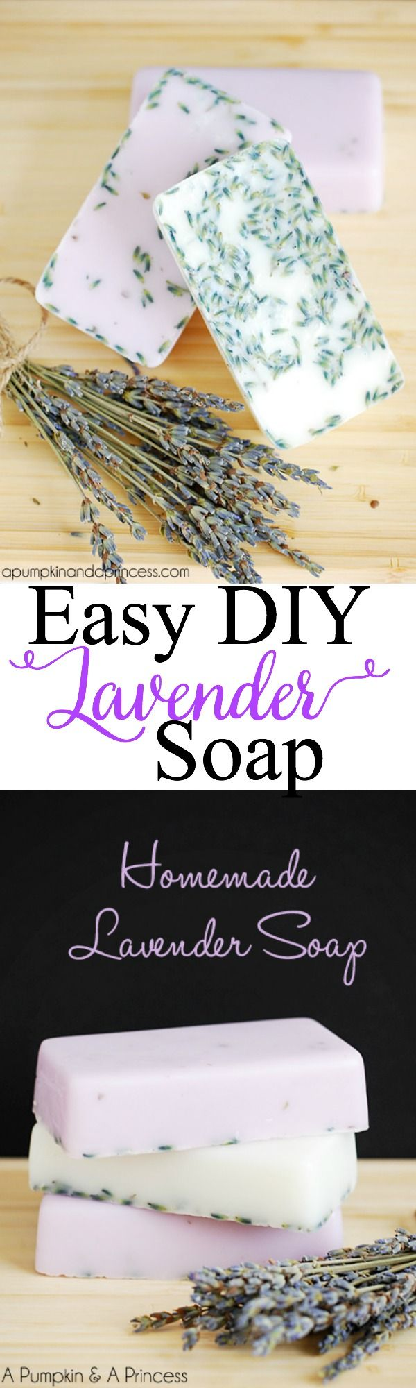 Very easy DIY Lavender Soap Tutorial- lavender essential oil is great for your skin and also very relaxing- perfect for a bath at bedtime!