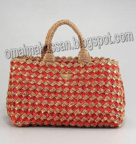 crochet kingdom (E.H): beautiful crochet raffia bag !