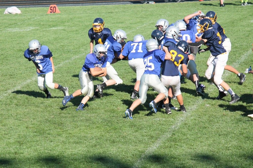NBC Football Scrimmage Pictures Vs North Muskegon on