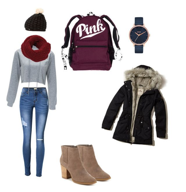 """""""Untitled #6"""" by victoriabeck on Polyvore featuring Madden Girl, Nixon, Superdry and Hollister Co."""