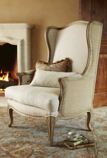 Www.softsurroundings.com ~ Leon Chair $1,499.95 .... French Wingback .