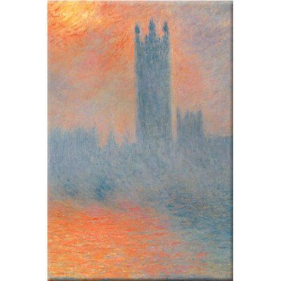 Buyenlarge Houses of Parliament Print of Painting on Wrapped Canvas