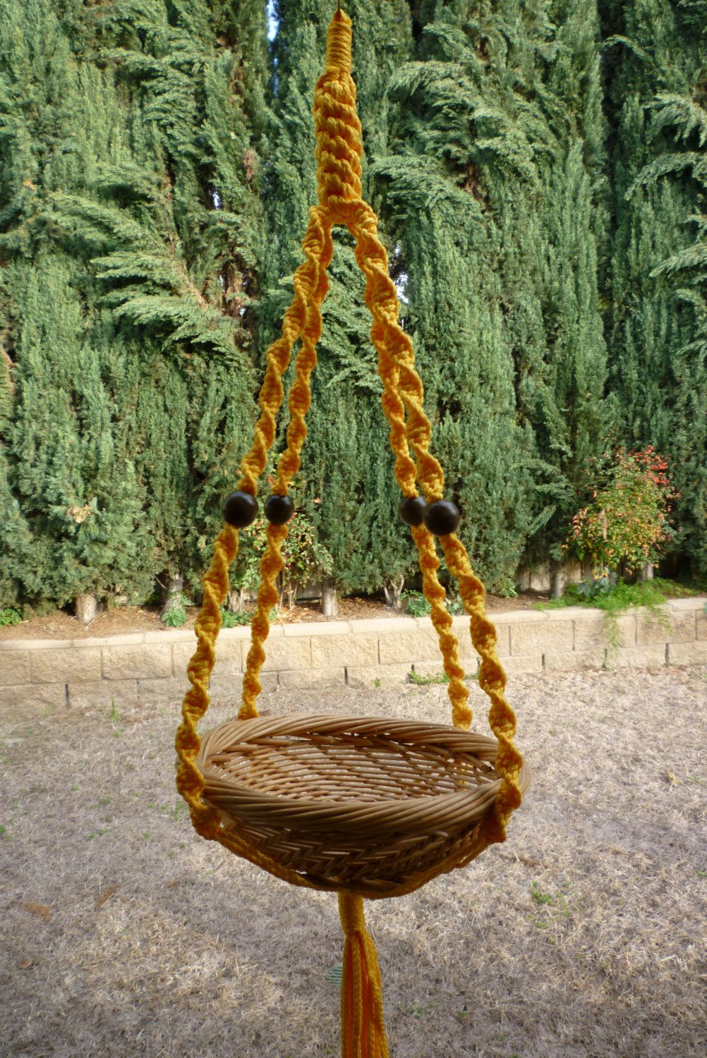 how to make a macrame plant hanger without a ring