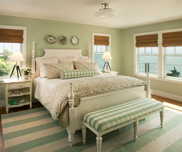rustic green beach themed bedroom | 25 Cool Beach Style Bedroom Design Ideas | Bedroom green ...