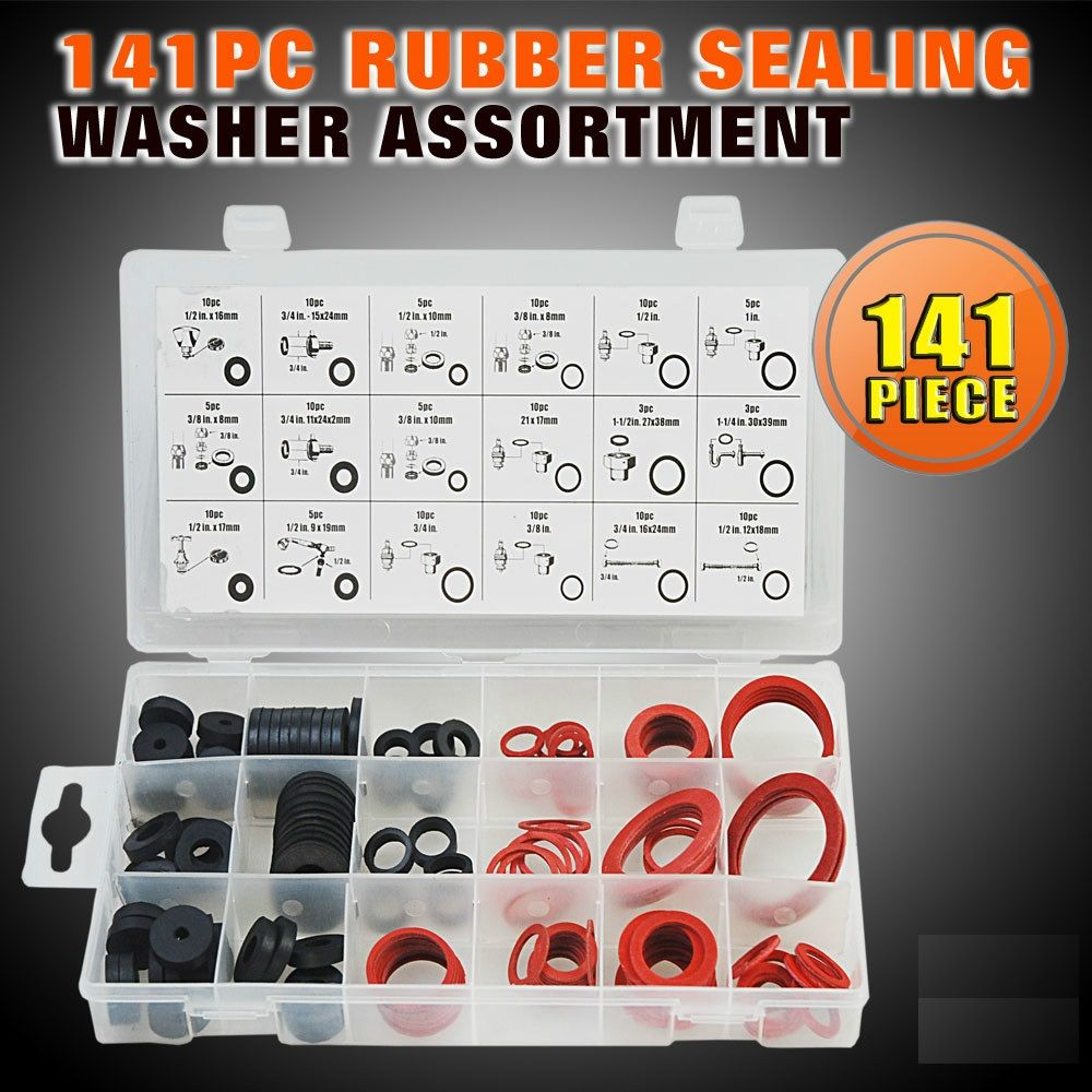 Horusdy 141pcs Rubber O Ring O Ring Washer Seals Watertightness Assortment Differ Rubber Sealing Washer Assortment Professional O Ring Rubber Washer