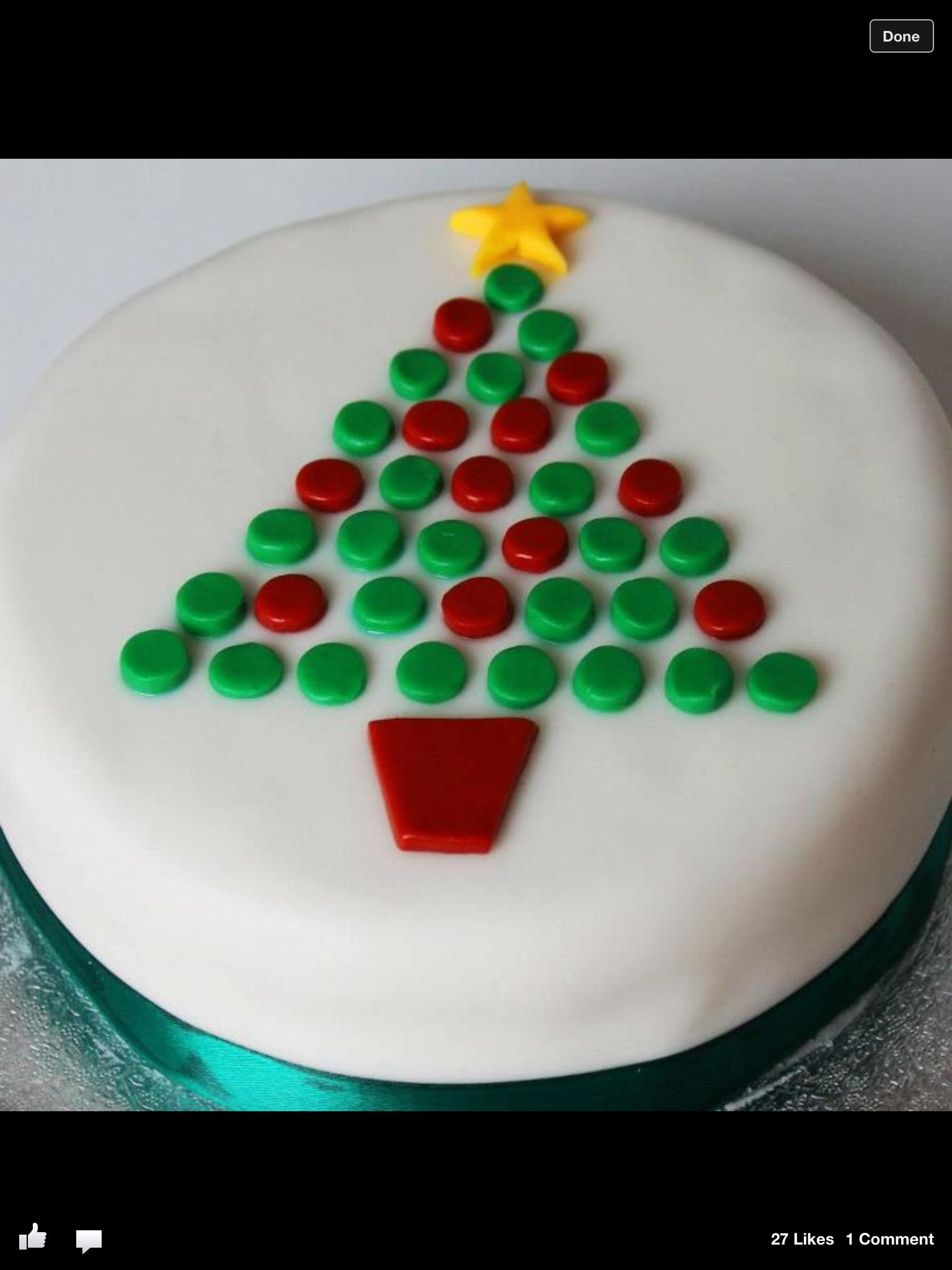 Might Have To Copy This Idea Christmas Cake Designs Christmas Cake Decorations Xmas Cake