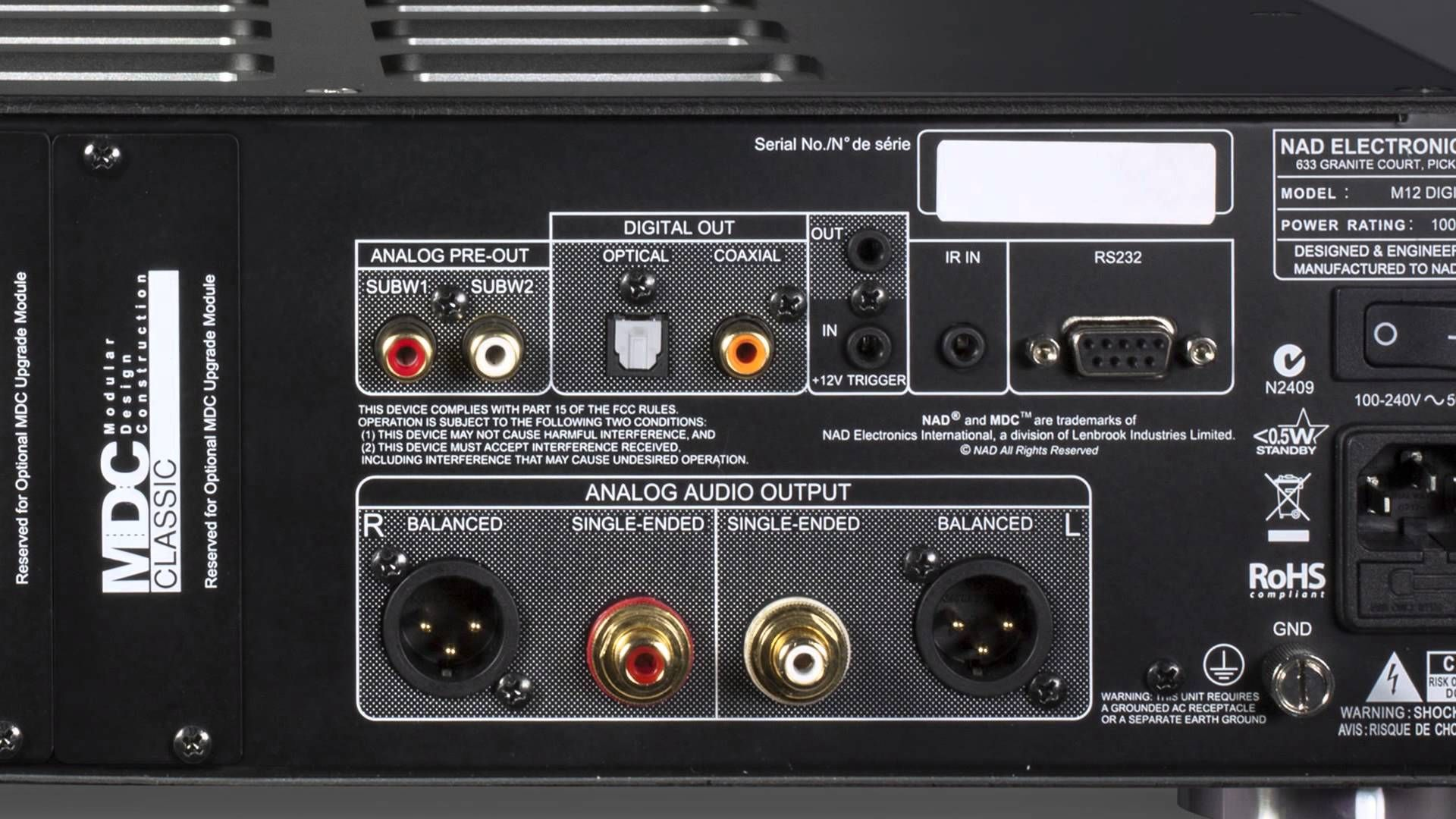 Crutchfield Video Nad Masters Series M12 Preamp And M22 Amplifier Crutchfield Amplifier Power Rating