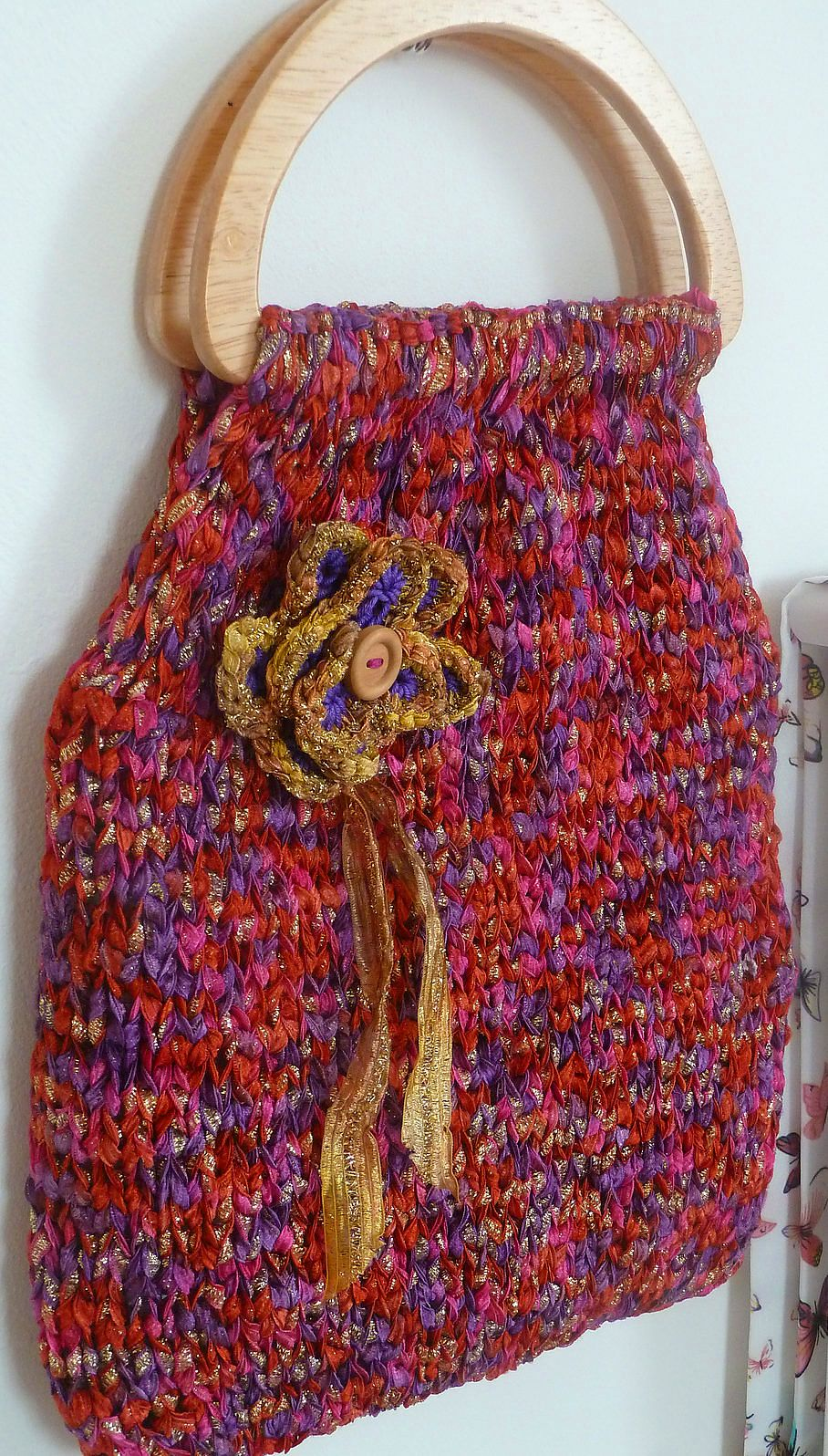 Knitting Patterns Using Recycled Materials | Yarn bag, Easy peasy ...