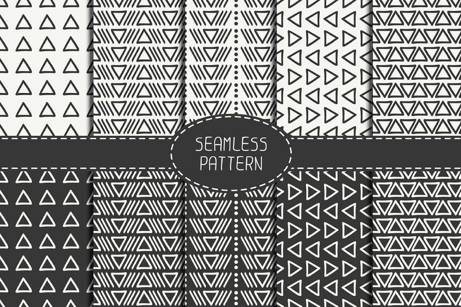 24 Organic Seamless Patterns Set in 2020 Seamless